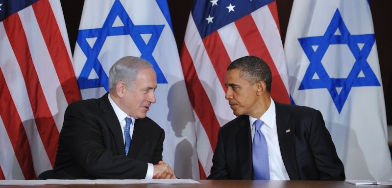 US President Barack Obama shakes hands with Israeli Prime Minister Benjamin Netanyahu during a bilateral meeting September 21, 2011 at the United Nations in New York City. AFP PHOTO/Mandel NGAN (Photo credit should read MANDEL NGAN/AFP/Getty Images)