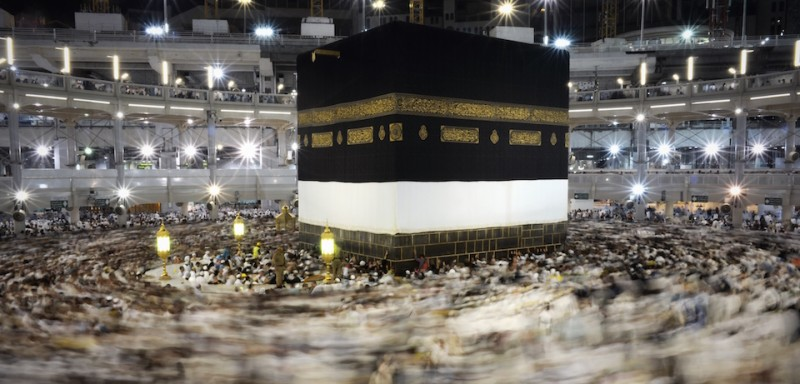Muslim pilgrims circle counterclockwise Islam's holiest shrine, the Kaaba, at the Grand Mosque in the Saudi holy city of Mecca, late on September 20, 2015. The annual hajj pilgrimage begins on September 22, and more than a million faithful have already flocked to Saudi Arabia in preparation for what will for many be the highlight of their spiritual lives. AFP PHOTO / MOHAMMED AL-SHAIKH        (Photo credit should read MOHAMMED AL-SHAIKH/AFP/Getty Images)