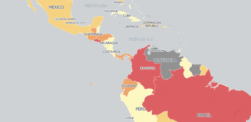 zika map screenshot