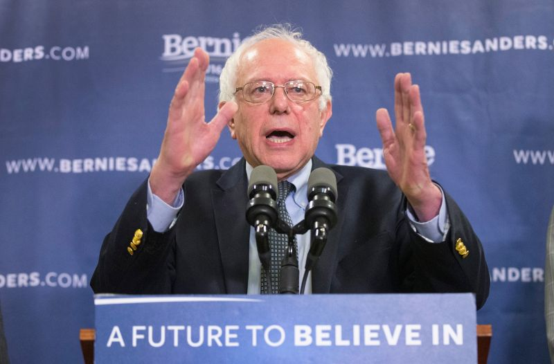 COLUMBIA, SC - FEBRUARY 24:  Democratic presidential candidate Sen. Bernie Sanders (D-VT) speaks about poverty in South Carolina during a press conference on February 24, 2016 in Columbia, South Carolina. Democrats in South Carolina will go to the polls to select their presidential nominee on February 27.  (Photo by Scott Olson/Getty Images)