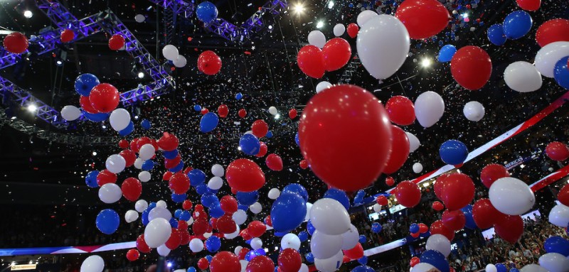 during the final day of the Republican National Convention at the Tampa Bay Times Forum on August 30, 2012 in Tampa, Florida. Former Massachusetts Gov. Mitt Romney was nominated as the Republican presidential candidate during the RNC which will conclude today.