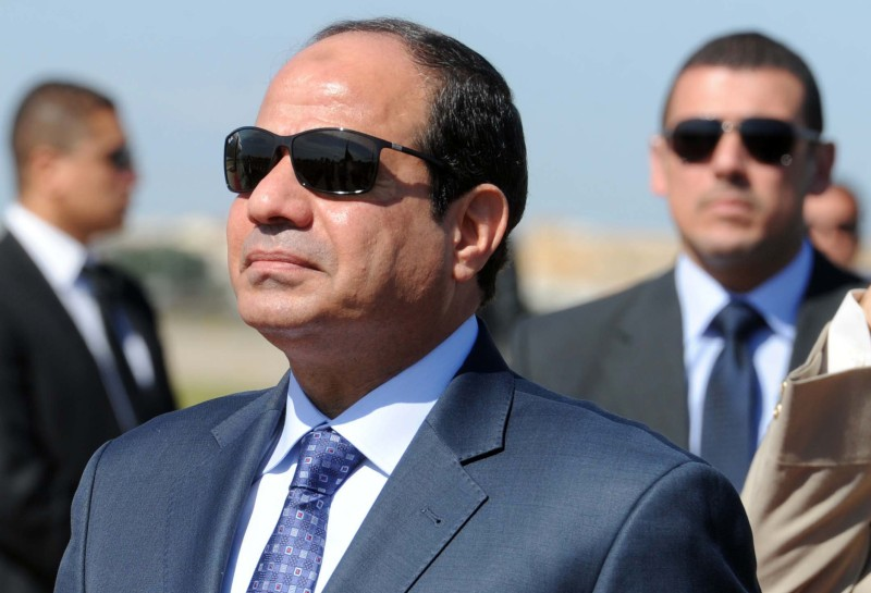 "Egypt's president Abdel Fattah al-Sisi reviews troops upon his arrival at Houari-Boumediene International Airport on June 25, 2014 in Algiers. Sisi arrived in Algeria for his first trip abroad since being elected in May and he is expected to meet President Abdelaziz Bouteflika, notably to discuss ways of ""promoting the brotherly relations and cooperation that exist between the two countries and on issues linked to the situation in the Arab world and Africa"".      AFP PHOTO/FAROUK BATICHE        (Photo credit should read FAROUK BATICHE/AFP/Getty Images)"