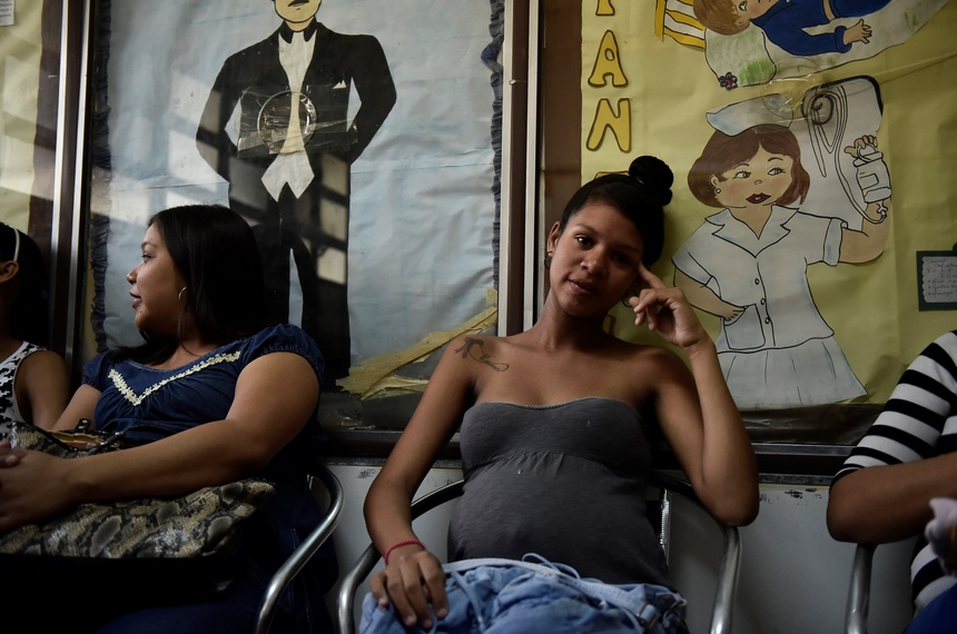 VENEZUELA, CARACAS - FEBRUARY 04: Pregnant women are seen in a waiting room of a hospital at Petare slum a suspected area of Zika virus propagation at east of Caracas, Venezuela on February 4, 2016.  Venezuela has recorded 4,700 suspected cases of people infected by the Zika virus according to spokespersons. Zika has been blamed for a recent spike in microcephaly -- a birth defect characterized by unusually small heads and underdeveloped brains in newborns. (Photo by Carlos Becerra/Anadolu Agency/Getty Images)