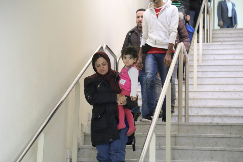 BAGHDAD, IRAQ - FEBRUARY 18: A group of Iraqi refugee, fled from civil war in Iraq and refuged to Finland, arrive at Baghdad International Airport in Baghdad, Iraq on February 18, 2016 after they left Finland due to varied difficulties they experienced. (Photo by Visam Ziyad Muhammet/Anadolu Agency/Getty Images)