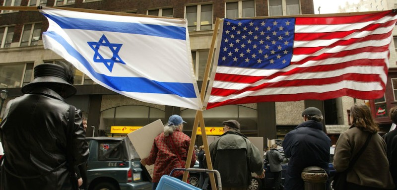 403579 04: Jewish demonstrators gather to pray April 8, 2002 outside of the Israeli Consulate office in Philadelphia, PA. Over 50 synagogues were represented at the demonstration to show unity and support for Israel as conflicts continue with the Palestinians in the Middle East. (Photo by Don Murray/Getty Images)