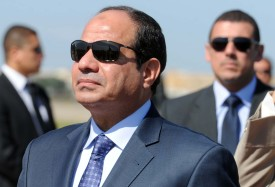 """Egypt's president Abdel Fattah al-Sisi reviews troops upon his arrival at Houari-Boumediene International Airport on June 25, 2014 in Algiers. Sisi arrived in Algeria for his first trip abroad since being elected in May and he is expected to meet President Abdelaziz Bouteflika, notably to discuss ways of """"promoting the brotherly relations and cooperation that exist between the two countries and on issues linked to the situation in the Arab world and Africa"""".      AFP PHOTO/FAROUK BATICHE        (Photo credit should read FAROUK BATICHE/AFP/Getty Images)"""