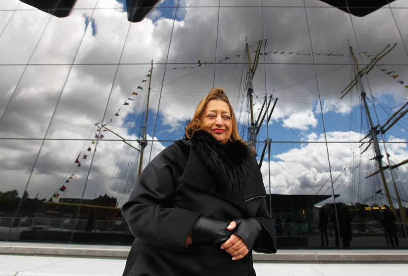 GLASGOW, SCOTLAND - JUNE 09: Zaha Hadid, the architect of the new Riverside Museum attends a press conference before the opening of the musuem, her first major work in the United Kingdom on June 9, 2011 in Glasgow, Scotland. The £74million Riverside Museum will open to the public on 21 June. The museum has been funded by Glasgow City Council, the Heritage Lottery Fund and the Riverside Museum Appeal.   (Photo by Jeff J Mitchell/Getty Images)