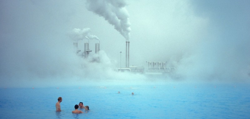 Iceland, Geothermal Plant And Pool, People Swimming. (Photo By Education Images/UIG via Getty Images)