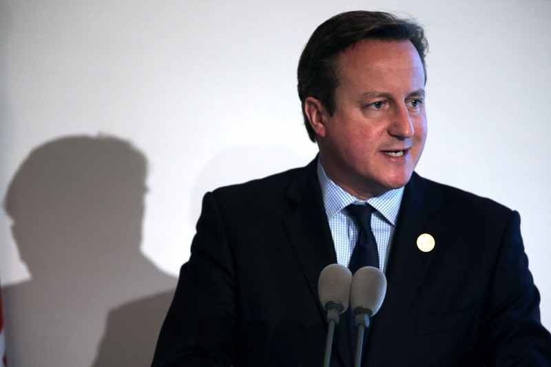 ANTALYA, TURKEY - NOVEMBER 16:  British Prime Minister David Cameron speaks to the media during a press conference on day two of the G20 Turkey Leaders Summit on November 16, 2015 in Antalya, Turkey. World leaders will use the summit to discuss issues including, climate change, the global economy, the refugee crisis and terrorism. The two day summit takes place in the wake of the massive terrorist attack in Paris which killed more than 120 people.  (Photo by Chris McGrath/Getty Images)