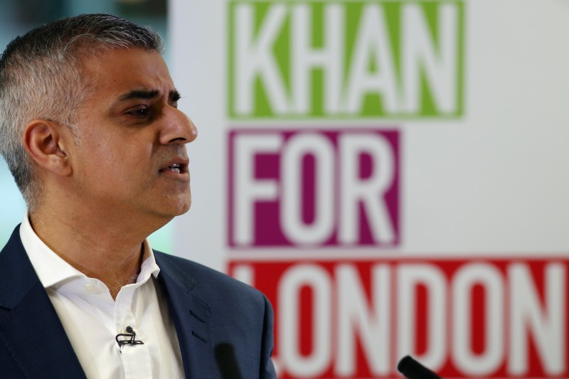 LONDON, ENGLAND - FEBRUARY 02:  Labour's London mayoral election Sadiq Khan adresses members of the media during a press confrerence at West Thames College on February 2, 2016 in London, England. Mr Khan was delivering his 'vision for London' ahead of the Mayoral Election in May, 2016.  (Photo by Dan Kitwood/Getty Images)