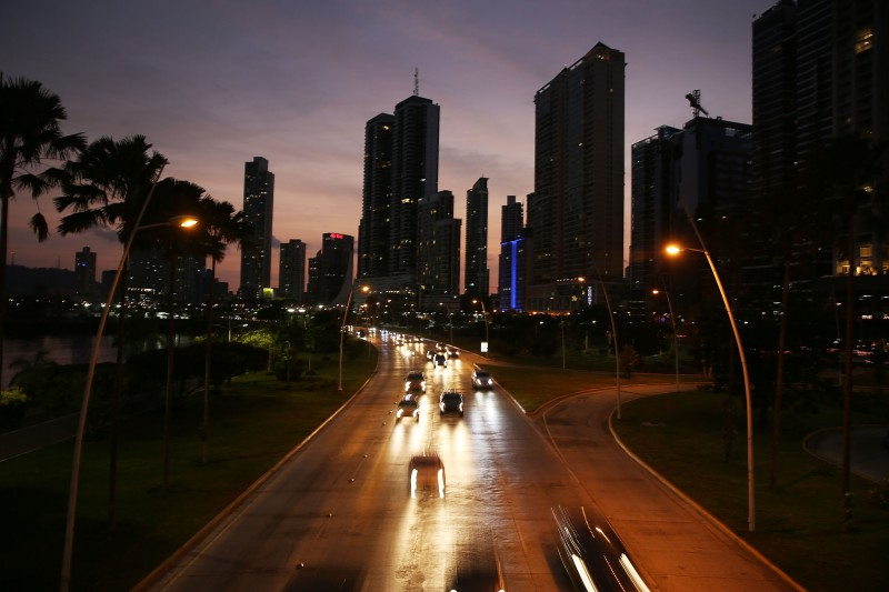 PANAMA CITY, PANAMA - APRIL 07:  Part of the Panama City skyline is seen as revelations about the law firm Mossack Fonseca & Co continue to play out around the world on April 7, 2016 in Panama City, Panama. The law firm, which specializes in setting up offshore companies, is at the center of an international scandal and continues to maintain it has broken no laws and that all its operations were legal. A report by the International Consortium of Investigative Journalists referred to as the 'Panama Papers,' based on information anonymously leaked from Mossack Fonesca, indicates possible connections between people setting up the offshore companies and money laundering.  (Photo by Joe Raedle/Getty Images)