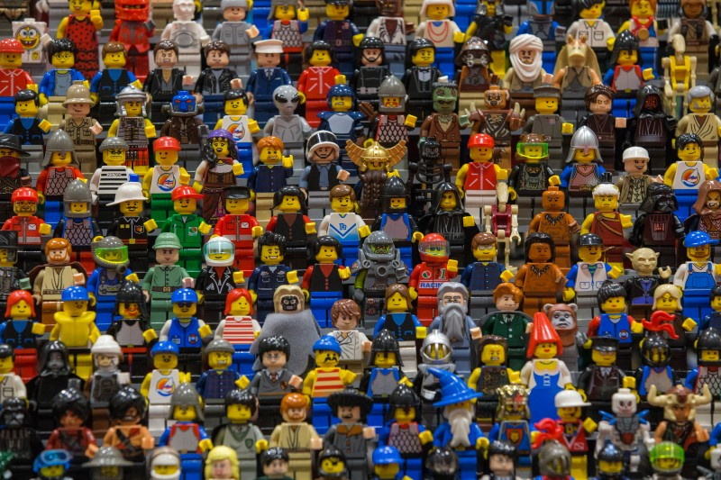 LONDON, ENGLAND - NOVEMBER 27:  Lego figures are displayed on the opening day of BRICK 2014 at the Excel Centre on November 27, 2014 in London, England. The four day event showcases creations by some of the world's best Lego builders and runs until November 30th.  (Photo by Dan Kitwood/Getty Images)