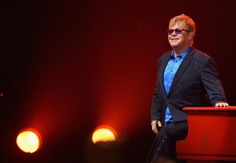 LOS ANGELES, CA - JANUARY 13:  Elton John performed songs from his new album Wonderful Crazy Night out February 5, as well as classic hits, on January 13th at the Wiltern in Los Angeles.  (Photo by Larry Busacca/Getty Images for Island Records)