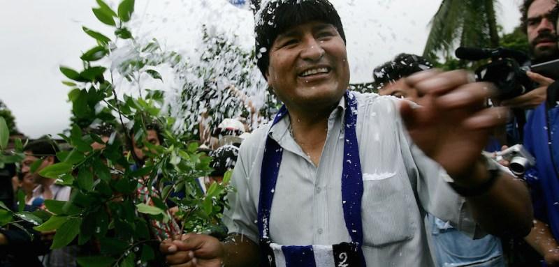 *** Local Caption *** Evo Morales