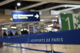 """This picture taken on May 19, 2016 shows the hall of the Roissy-Charles De Gaulle airport in Roissy-en-France near Paris. An EgyptAir flight which disappeared from radar screens en route from Paris to Cairo early on May 19, 2016, crashed into the sea off the southern Greek island of Karpathos while in Egyptian airspace, a Greece aviation source told AFP. """"At around 0029 GMT (3:29 am) when it was in Egyptian airspace, the plane disappeared from Greek radars... it crashed around 130 nautical miles off the island of Karpathos,"""" the source told AFP.  AFP PHOTO / THOMAS SAMSON / AFP / THOMAS SAMSON        (Photo credit should read THOMAS SAMSON/AFP/Getty Images)"""