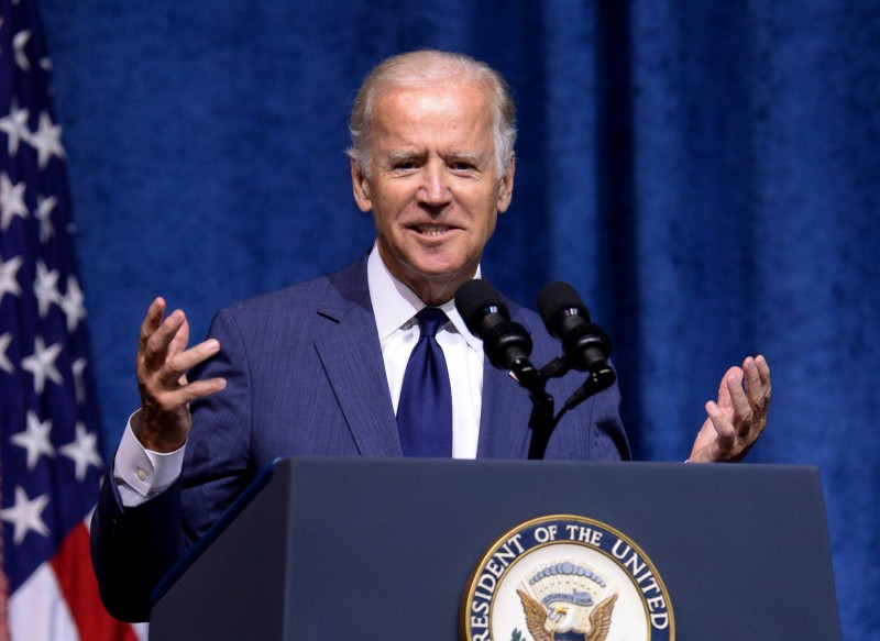 Then-U.S. Vice President Joe Biden speaks in Chattanooga, Tennessee, on Aug. 15, 2015. (Jason Davis/Getty Images)
