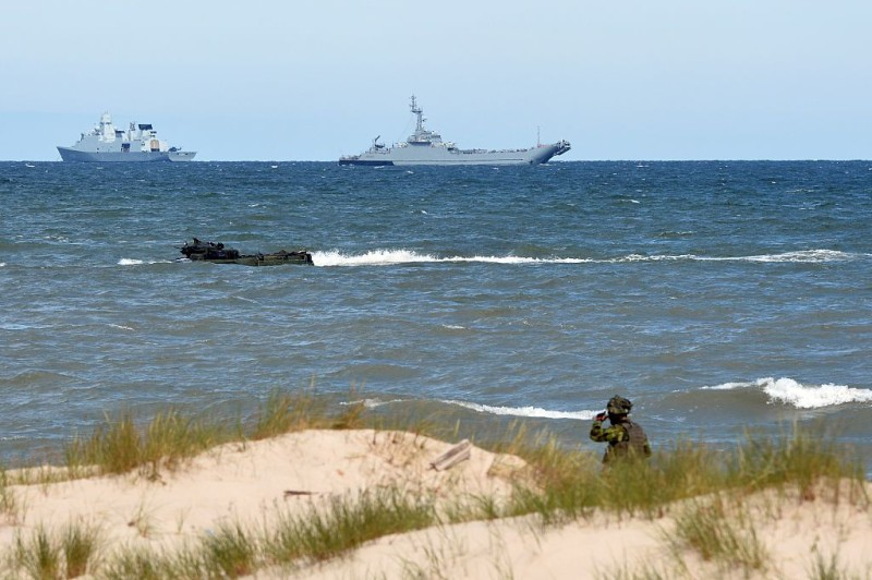 NATO troops make a massive amphibious landing off the coast of Ustka, northern Poland, during NATO military sea exercises BALTOPS (Baltic Operations) on June 17, 2015 in the Baltic Sea. The multinational exercise of NATO allied and partner nations aims to demonstrate their collective capability to defend the Baltic region.    AFP PHOTO / JANEK SKARZYNSKI        (Photo credit should read JANEK SKARZYNSKI/AFP/Getty Images)