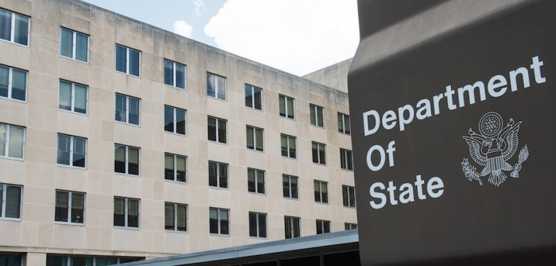A view of the US Department of State is seen July 31,2014, where President Obama will host African Leaders August 4-6,2014 in Washington, DC for the US-Africa Leaders Summit.  This historic summit, the first of its kind, will bring leaders from across the African continent to the nation's capital and further strengthen ties with one of the world's most dynamic and fastest-growing regions.  The theme of the Summit is investing in the next generation. Building on the progress made since President Obamas trip to Africa last summer, the Summit will advance the focus on trade and investment in Africa, and highlight Americas commitment to Africas security, its democratic development, and elevate the ideas of young people..      AFP PHOTO/Paul J. Richards        (Photo credit should read PAUL J. RICHARDS/AFP/Getty Images)