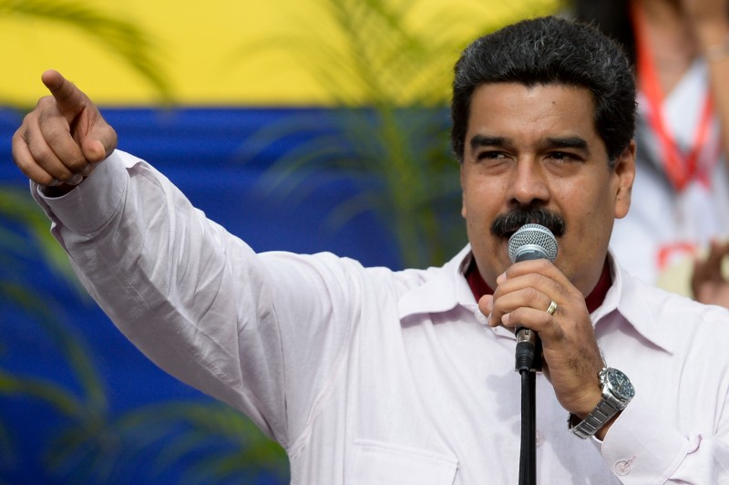 Venezuelan President Nicolas Maduro delivers a speech during a rally in Caracas on June 14, 2016.  The US and Venezuelan governments said Tuesday they would launch new high-level talks as the South American country struggles with a political and economic crisis. / AFP / FEDERICO PARRA        (Photo credit should read FEDERICO PARRA/AFP/Getty Images)