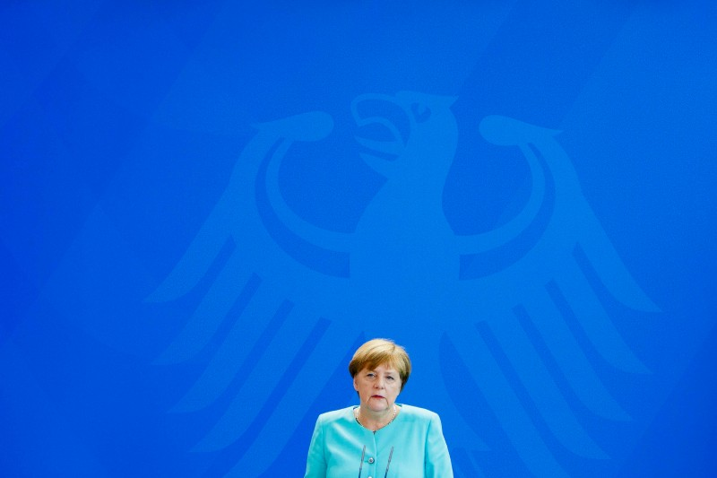 BERLIN, GERMANY - JUNE 24: German Chancellor Angela Merkel speaks to the media following the United Kingdom's referendum vote to leave the European Union on June 24, 2016 in Berlin, Germany. Leaders across the EU are expressing disappointment and regret over Britain's decision to leave the European Union. (Photo by Carsten Koall/Getty Images)