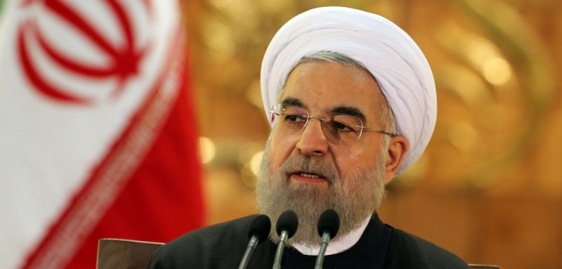 Iranian President Hassan Rouhani speaks during a press conference on January 17, 2016 in the capital Tehran after international sanctions on Iran were lifted.  Rouhani said that sceptics who said a nuclear deal with world powers would not bring benefits to Iran were all proven wrong.   / AFP / ATTA KENARE        (Photo credit should read ATTA KENARE/AFP/Getty Images)