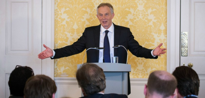 """Former Prime Minister Tony Blair holds a press conference at Admiralty House, London, where responding to the Chilcot report he said: """"I express more sorrow, regret and apology than you may ever know or can believe."""" PRESS ASSOCIATION Photo. Picture date: Wednesday July 6, 2016. Mr Blair said that the report contained """"serious criticisms"""" but showed that """"there were no lies, Parliament and the Cabinet were not misled, there was no secret commitment to war, intelligence was not falsified and the decision was made in good faith"""". See PA story POLITICS Chilcot Blair. Photo credit should read: Stefan Rousseau/PA Wire"""