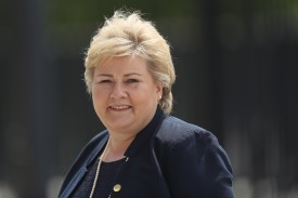 WARSAW, POLAND - JULY 08: Norwegian Prime Minister Erna Solberg arrives for the Warsaw NATO Summit on July 8, 2016 in Warsaw, Poland. NATO member heads of state, foreign ministers and defense ministers are gathering for a two-day summit beginning later today.  (Photo by Sean Gallup/Getty Images)