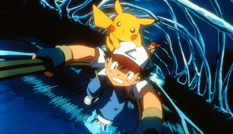 "387921 03: Ash, Pikachu and Misty (background) in 4Kids Entertainment's animated adventure ""Pokemon3,"" distributed by Warner Bros. Pictures. (Photo by Warner Bros. Pictures)"