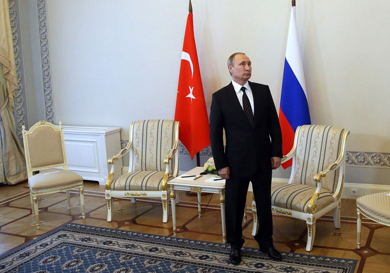 SAINT PETERSBURG, RUSSIA- AUGUST, 9  (RUSSIA OUT) Russian President Vladimir Putin is seen prior to the meeting with Turkish President Recep Tayyip Erdogan (not pictured) in Konstantin Palace in Strenla, Saint Petersburg, August,9, 2016. President of Turkey is having a one-day visit to Putin's hometown. (Photo by Mikhail Svetlov/Getty Images)