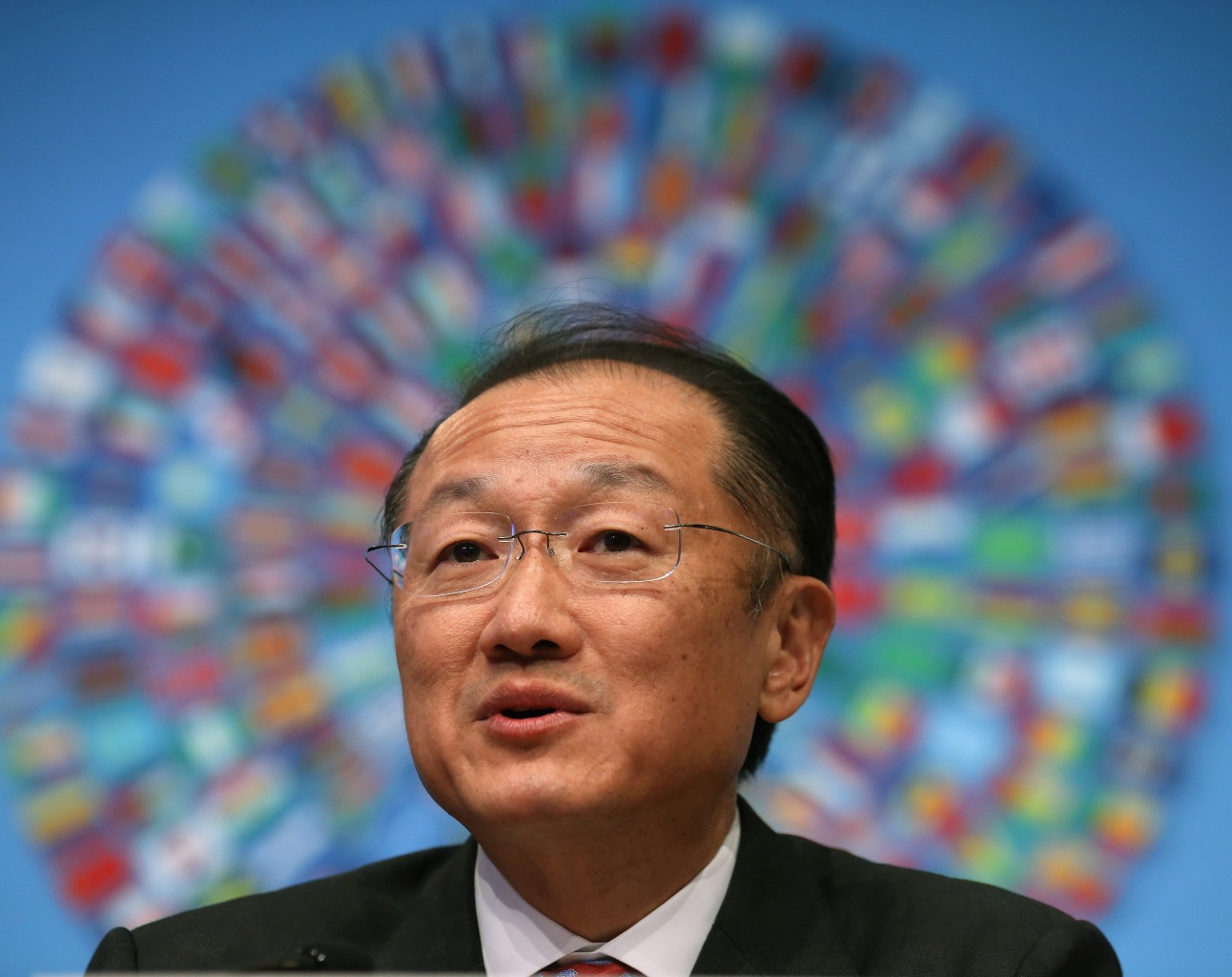 WASHINGTON, DC - APRIL 10: World Bank Group President Jim Yong Kim speaks during a media briefing at the IMF Headquarters, on April 10, 2014 in Washington, DC. Mr. Kim spoke about their agenda for the 2014 Spring Meetings and talked about the data revolution. (Photo by Mark Wilson/Getty Images)