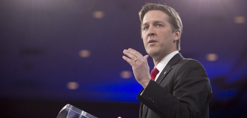 US Senator Ben Sasse, Republican of Nebraska, speaks during the annual Conservative Political Action Conference (CPAC) 2016 at National Harbor in Oxon Hill, Maryland, outside Washington, March 3, 2016. Republican activists, organizers and voters gather for the Conservative Political Action Conference at a critical moment for the Republican Party as Donald Trump marches towards the presidential nomination and GOP stalwarts consider whether -- or how -- to stop him. / AFP / SAUL LOEB        (Photo credit should read SAUL LOEB/AFP/Getty Images)