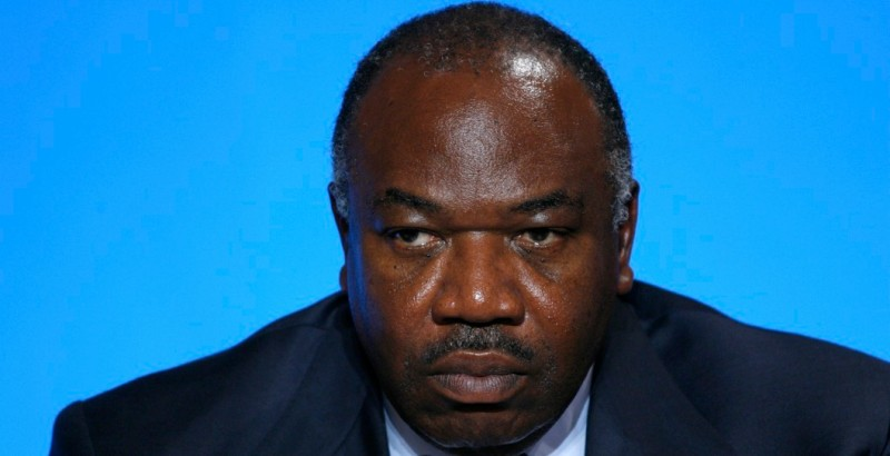 Ali Bongo Ondimba, President of Gabon. Press conference after a working lunch on COP21 at Elysee Palace with African leaders. (Photo by Antoine Gyori/Corbis via Getty Images)