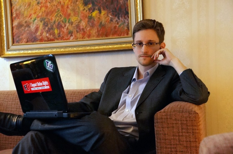 MOSCOW, RUSSIA - DECEMBER 2013:  (EXCLUSIVE ACCESS; PREMIUM RATES (3X) APPLY) Former intelligence contractor Edward Snowden poses for a photo during an interview in an undisclosed location in December 2013 in Moscow, Russia. Snowden who exposed extensive details of global electronic surveillance by the National Security Agency has been in Moscow since June 2012 after getting temporary asylum in order to evade prosecution by authorities in the U.S.  (Photo by Barton Gellman/Getty Images)
