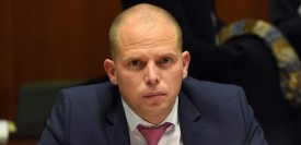Belgium Asylum and Migration Minister Theo Francken attends a ministerial meeting of the Justice and Home Affairs Council (JAH) at the European Council in Brussels, on  December 5, 2014. AFP PHOTO/Emmanuel Dunand        (Photo credit should read EMMANUEL DUNAND/AFP/Getty Images)
