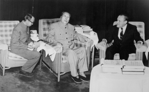 Mao-Tse-Tung with NZ Premier Muldoon