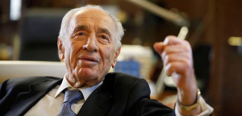 Israeli President Shimon Peres speaks during an interview in the President house on April 10, 2013 in Jerusalem, Israel. (Photo by Lior Mizrahi/Getty Images)