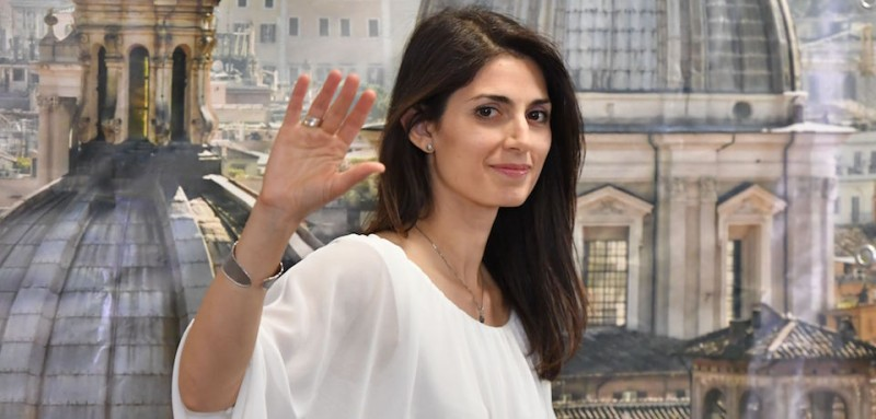 Newly elected mayor of Rome, Five Star Movement's candidate Virginia Raggi, gives a press conference after winning the mayoral election on June 19, 2016 at her campaign headquarters in Rome.   / AFP / TIZIANA FABI        (Photo credit should read TIZIANA FABI/AFP/Getty Images)