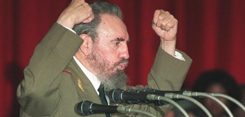 Cuban President Fidel Castro, 71, speaks 24 February in Havana during a speech after he was reelected President of Cuba by the National Assembly. In a unanimous vote, Castro was reelected to another five year term.   AFP PHOTO/Adalberto ROQUE (Photo credit should read ADALBERTO ROQUE/AFP/Getty Images)