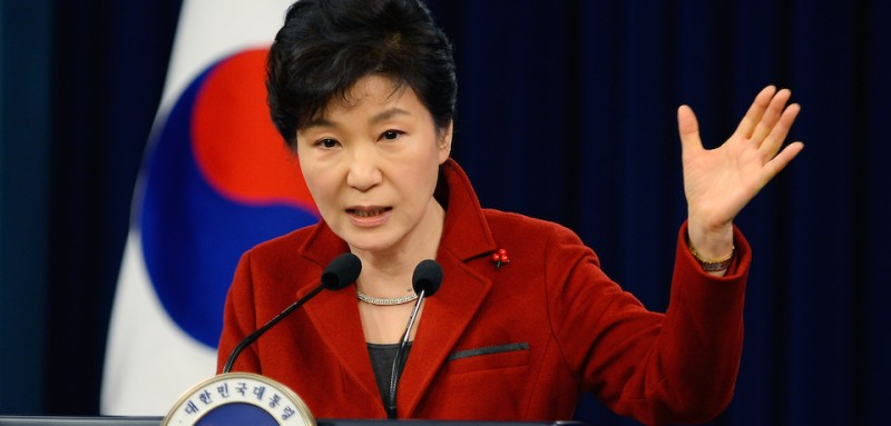 SEOUL, SOUTH KOREA - JANUARY 12:  South Korean President Park Geun-Hye speaks during a press conference at the Presidential Office on January 12, 2015 in Seoul, South Korea. Park outlined her policy plans for the new year.  (Photo by Kim Min-Hee-Pool/Getty Images)