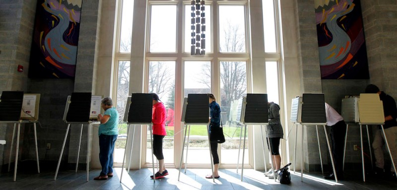 CINCINNATI, OH- MARCH 15: Ohio voters go to the polls for the Ohio primary at the Episcopal Church of the Redeemer March 15, 2016 in Cincinnati, Ohio. The Ohio Republican primary is a winner-take-all state were 66 delegates are up for grabs.     (Photo by John Sommers II/Getty Images)