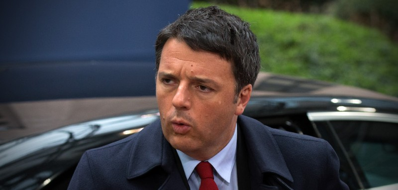 BRUSSELS, BELGIUM - MARCH 18:  Italy's Prime Minister Matteo Renzi arrives at the Council of the European Union on the second day of an EU summit, on March 18, 2016 in Brussels, Belgium. EU leaders have gathered for a two-day summit to discuss a number of issues including the ongoing migrant crisis.  (Photo by Carl Court/Getty Images)