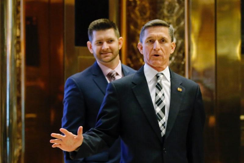 Retired Lt. Gen. Michael Flynn arrives at the Trump Tower for meetings with US President-elect Donald Trump, in New York on November 17, 2016. / AFP / Eduardo Munoz Alvarez        (Photo credit should read EDUARDO MUNOZ ALVAREZ/AFP/Getty Images)