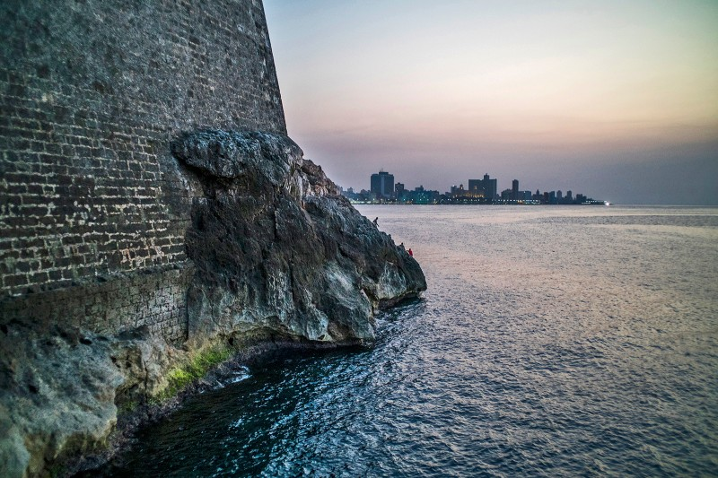 HAVANA. On the shore of the morro, a former military fort constructed during Spanish colonial times.