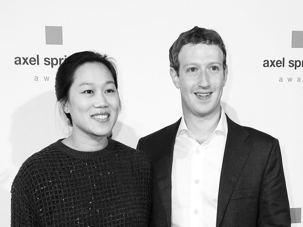 Priscilla Chan and Mark Zuckerberg