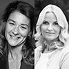 Melinda Gates, Crown Princess of Norway Mette-Marit, and Kate Roberts