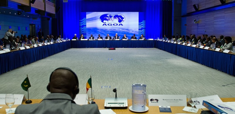 US Secretary of State John Kerry addresses the African Growth and Opportunity Act(AGOA) August 4, 2014 during the US-Africa Summit at the World Bank in Washington, DC.AFP PHOTO / Karen BLEIER        (Photo credit should read KAREN BLEIER/AFP/Getty Images)
