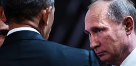 TOPSHOT - US President Barack Obama (L) and Russia's President Vladimir Putin talk before an economic leaders meeting at the Asia-Pacific Economic Cooperation Summit at the Lima Convention Centre on November 20, 2016 in Lima. Asia-Pacific leaders are expected to send a strong message in defense of free trade as they wrap up a summit that has been overshadowed by US President-elect Donald Trump's protectionism. / AFP / Brendan Smialowski        (Photo credit should read BRENDAN SMIALOWSKI/AFP/Getty Images)