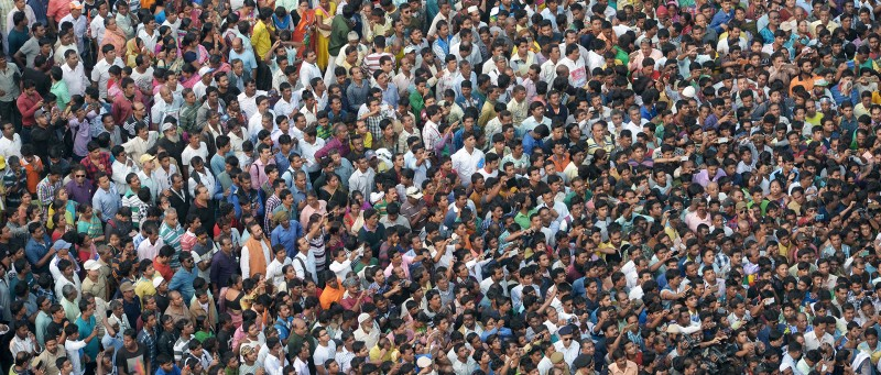 "TOPSHOT - Indian activists from the Trinamool Congress (TMC) political party listen as the Chief Minister of eastern state of West Bengal and TMC leader Mamata Banerjee speaks during a rally as part of a nationwide protest against demonetisation in Kolkata on November 28, 2016.     Tens of thousands of people turned out November 28 for nationwide protests against India's controversial ban on high-value banknotes, which opposition party organisers say has caused a ""financial emergency"". / AFP / Dibyangshu SARKAR        (Photo credit should read DIBYANGSHU SARKAR/AFP/Getty Images)"