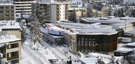 Davos' Congress Centre is seen on the eve of the opening day of the World Economic Forum, on January 16, 2017 in Davos. Inequality will be among the issues topping the agenda as the world's political and business elite meet in Davos from Tuesday until Friday, when 3,000 people will gather for the annual meeting of the World Economic Forum.  / AFP / FABRICE COFFRINI        (Photo credit should read FABRICE COFFRINI/AFP/Getty Images)