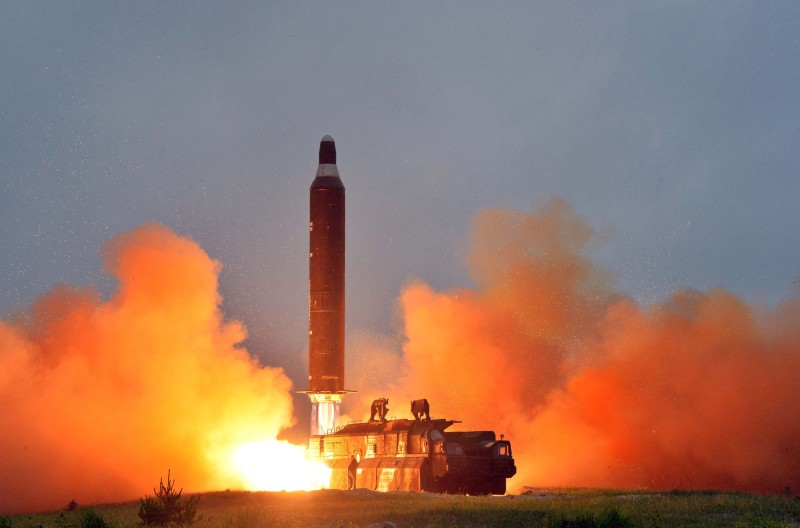 "This undated picture released from North Korea's official Korean Central News Agency (KCNA) on June 23, 2016 shows a test launch of the surface-to-surface medium long-range strategic ballistic missile Hwasong-10 at an undisclosed location in North Korea. The Musudan -- also known as the Hwasong-10 -- has a theoretical range of anywhere between 2,500 and 4,000 kilometres (1,550 to 2,500 miles). / AFP / KCNA VIA KNS / KCNA / South Korea OUT / REPUBLIC OF KOREA OUT   ---EDITORS NOTE--- RESTRICTED TO EDITORIAL USE - MANDATORY CREDIT ""AFP PHOTO/KCNA VIA KNS"" - NO MARKETING NO ADVERTISING CAMPAIGNS - DISTRIBUTED AS A SERVICE TO CLIENTS THIS PICTURE WAS MADE AVAILABLE BY A THIRD PARTY. AFP CAN NOT INDEPENDENTLY VERIFY THE AUTHENTICITY, LOCATION, DATE AND CONTENT OF THIS IMAGE. THIS PHOTO IS DISTRIBUTED EXACTLY AS RECEIVED BY AFP.  /         (Photo credit should read KCNA/AFP/Getty Images)"